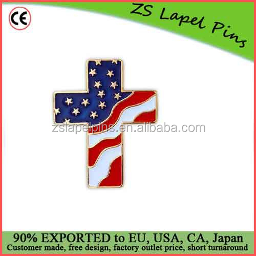 Custom quality United States of America American Flag Lapel Jacket Hat Pin