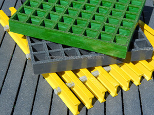 Powergrid Molded Fiberglass Grating For Chemical Plants