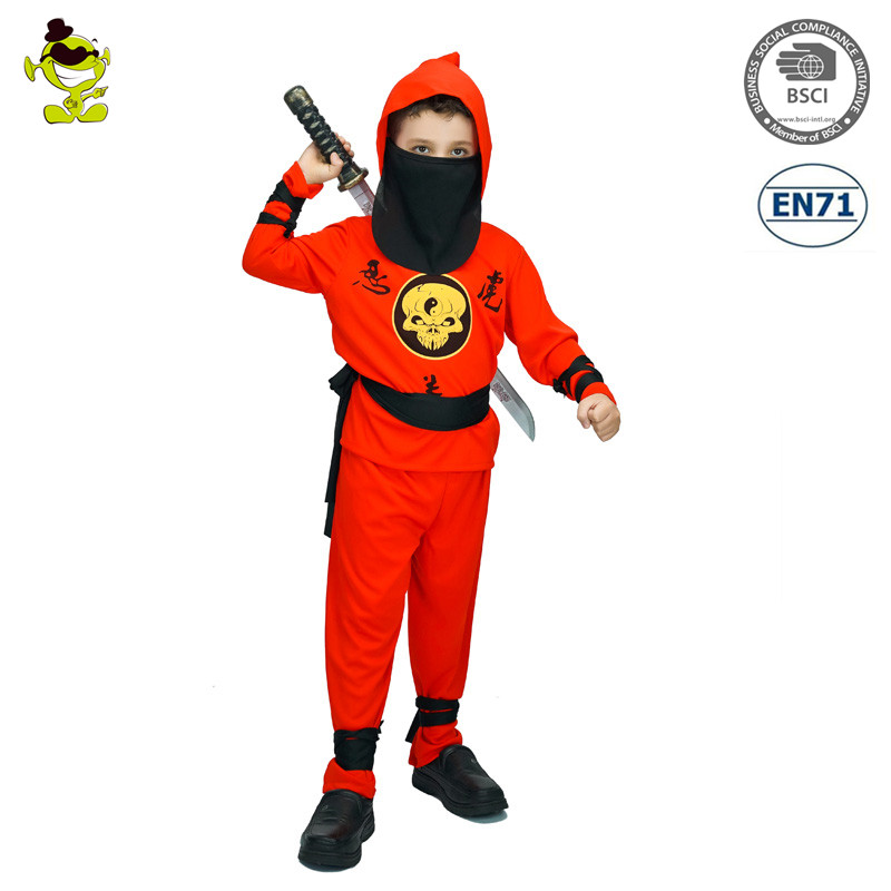 A Fashionable top quality Red Ninja cosplay costume for kids