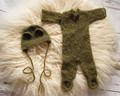 Baby Mohair Jumpsuits Newborn Hat Photography Props