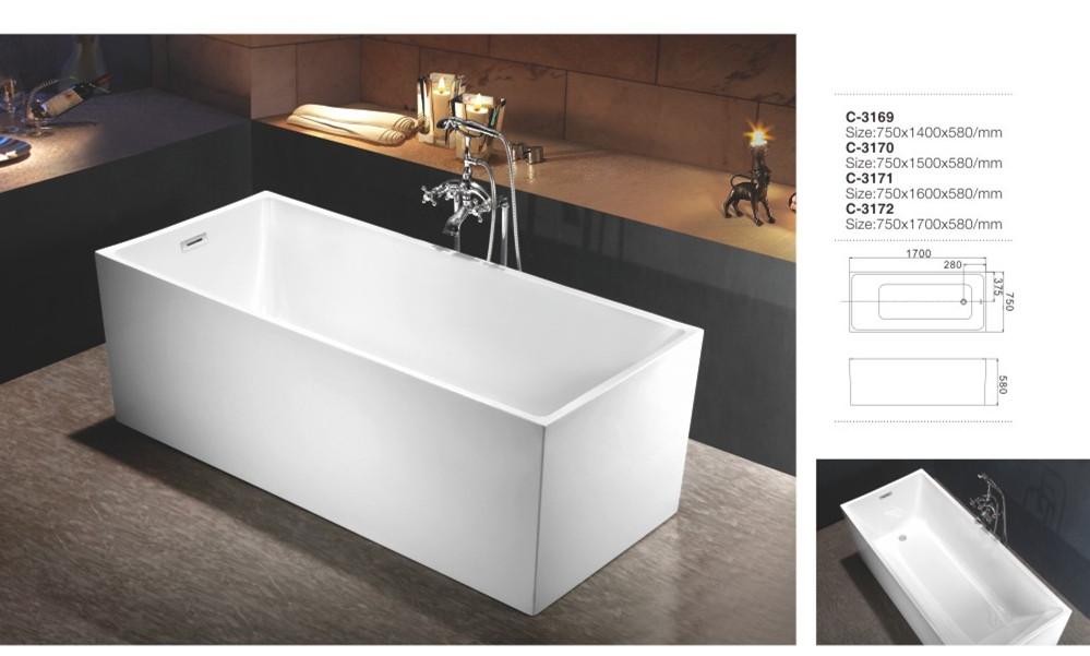 Cheap Abs Plastic Freestanding Portable Japanese Shallow Bathtub ...