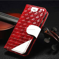 Protective Knitting pattern leather cover case for iphone 5SE