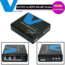 Special Metal VOXLINK AV to HDMI Converter Support 4Kx2K Scaler Video RCA To HDMI Converter Box