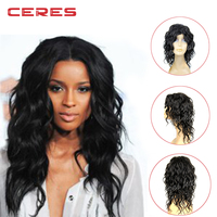 2016 New fashion aliexpress deep curly brazilian human hair free lace wig samples u part wig