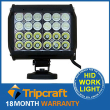 72W LED driving light, 72W led spotlight work bars used utv led work roof rack light bar