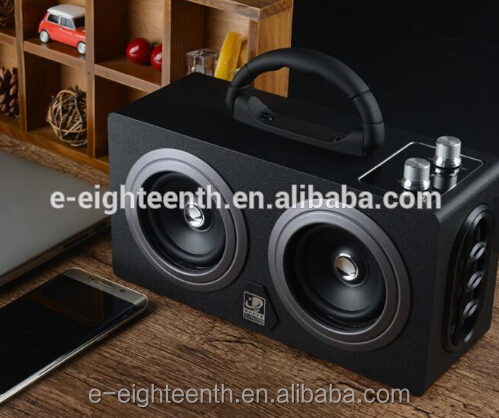 2017 new hot high quality big power 20W CSR4.0 super mega bass speaker portable wood bluetooth speaker