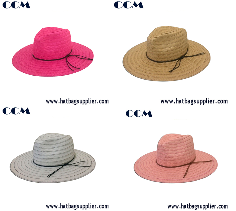 2cm Lala Paper Braided Straw Panama Hat for Lady Beach
