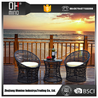 Bistro-001 bali synthetic cebu wholesale wicker poly philippines outdoor garden rattan furniture set in malaysia