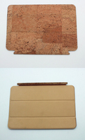 Boshiho tri-fold cork tablet case for ipad air holder