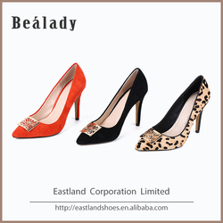 Made in china soft italian pointy toe party suede leather women shoes and bags