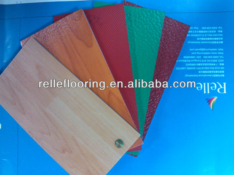 antiskid waterproof pvc sheet sport floor like wood