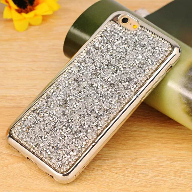 for iPhone 7 diamond Case, for iPhone 7 tpu Case Luxury Bling Diamond Crystal Clear soft tpu Back Case
