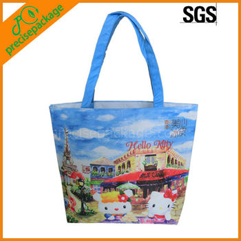 changzhou supplier shopping cooler bag with pretty logo(PRC-606)