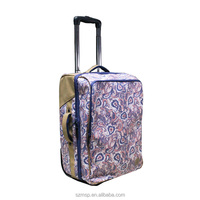 print canvas tripper weekend women rollers casual luggage,rolling travel trolley case