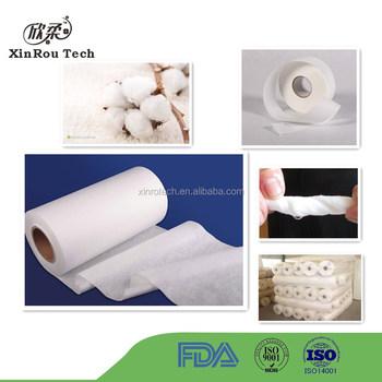 Pure Natural 100% Cotton Spunlace Non woven Fabric Rolls