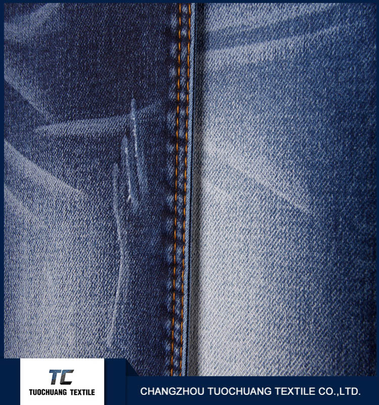 cotton poly spandex twill denim jeans fabric for pant with high quality