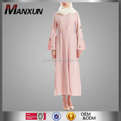 New fashion flowers sequins abaya hot drill long sleeves muslim dresses women robes in malaysia