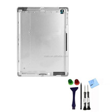 100% ORIGINAL Aluminium Alloy Back Rear Housing Cover Battery Door with Logo For iPad 4 3G 4G + Wifi Cellular Version