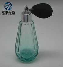 wholesale 100ml diamond shaped clear glass perfume spray bottle