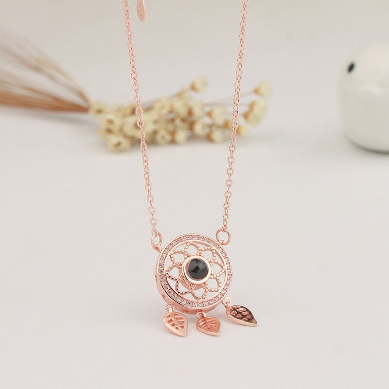 Romantic Crystal Pink Swan Little Barbarian Hundreds of Stars Ins Pendant Clavicular chain