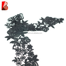 china manufacture wholesale high quality 3D black flower stock lace