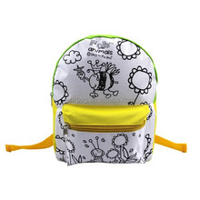 2016 DIY coloring child school bag, custom kids backpack for school