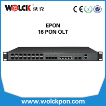 CE Certificated FTTH 1U 16 pon Layer 3 Route Gepon OLT Support SNMP Telnet CLI