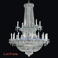 Silver antique new crystal fixture light moroccan grass chandelier