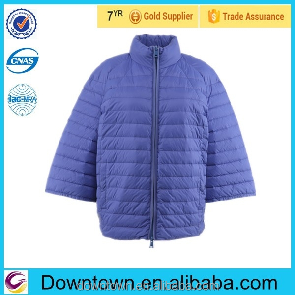 Brand name designed duck blue jackets for woman