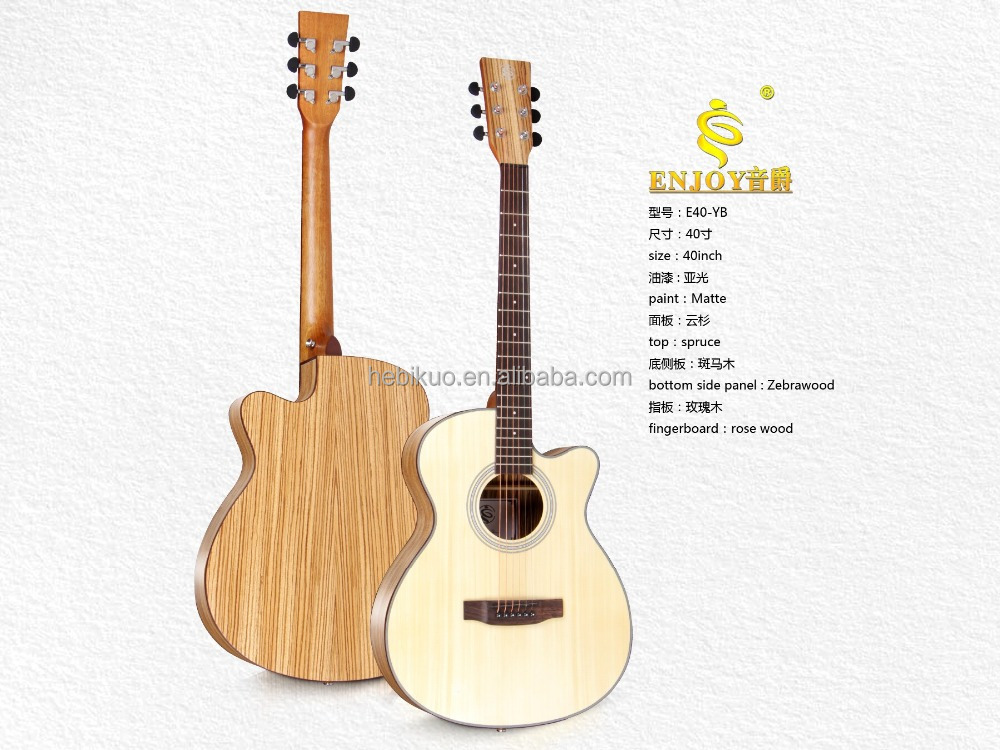 40'acoustic Folk guitar ,spruce panel guitar ,Flattop Guiar supplier E40-YB