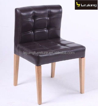 antique luxury wood legs leather dining chair