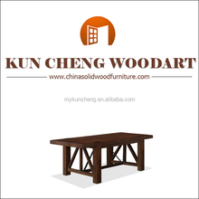 2014 alibaba brand new furniture wooden dining table with solid slab wooden top designs