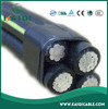 low voltage overhead application aluminum conductor XLPE insulated ABC Cable