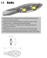 70w IP66 die casting COB LED street lamp with meanwell driver/ LED lighting