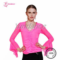 2016 New Ballroom Lyrical Dance Tops For Girls AB025