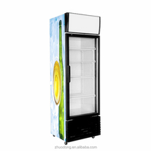 vertical showcase small supermarket glass door chiller commercial refrigerator upright freezer