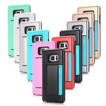 Shockproof TPU Credit Card Holder Wallet Case Cover For Samsung Galaxy Note 7