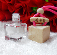 suqare shape glass bottle for hanging perfume /car air freshener pendant/car decoration