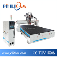 philicam Big Auto tool changer furniture making machine cnc router 2040 3d wood carving machine
