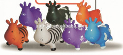 CE certified, PVC, inflatable jumping animals/ jumping cow/ rides on animal for kids