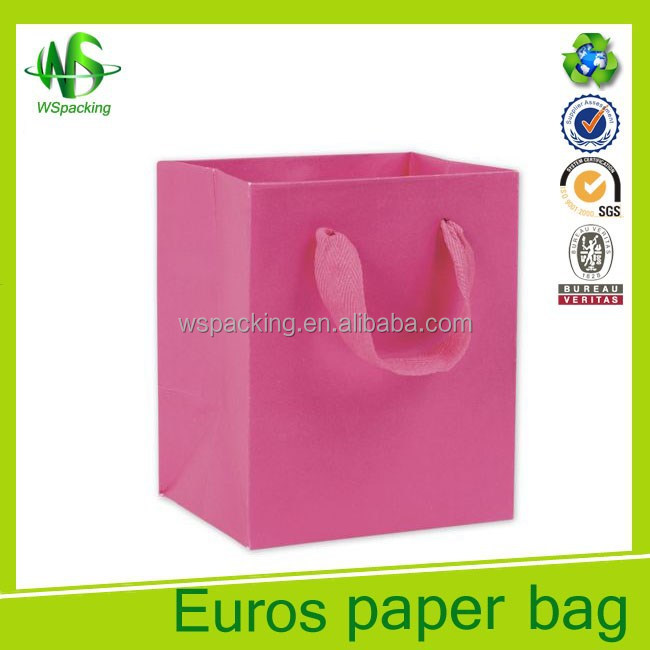 2017 pants laminated paper bags with cotton handle paper bag handle