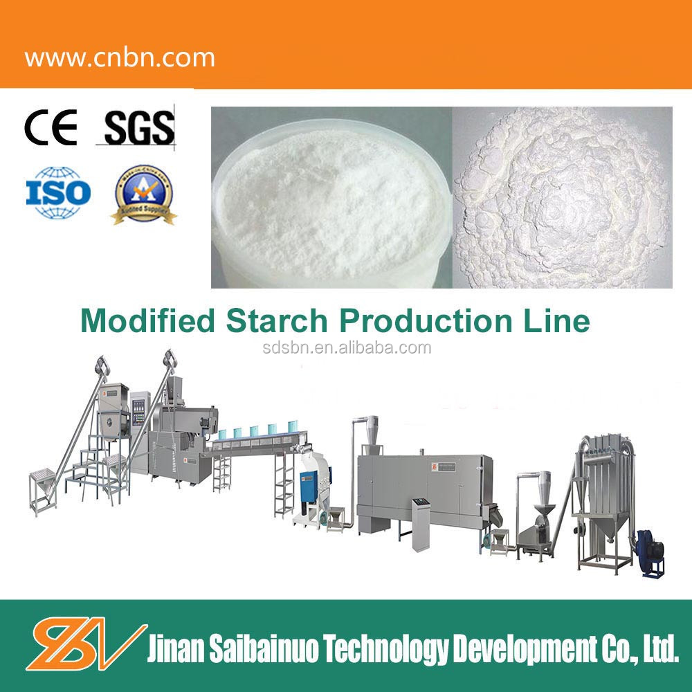High speed adhesive topioca modified starch processing machine