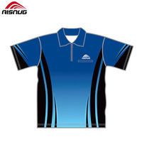 wholesale high quality polo shirts 100% polyester men's zipper sublimation printed polo shirts customized logo oem