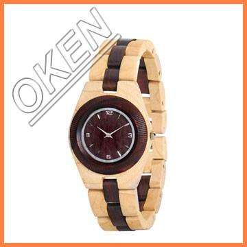 men sport watch japan movt diamond quartz bamboo watches