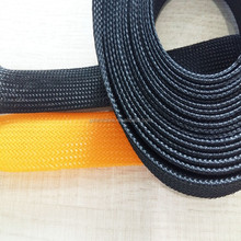 Flame resistant thermal wire insulation pet braided sleeve