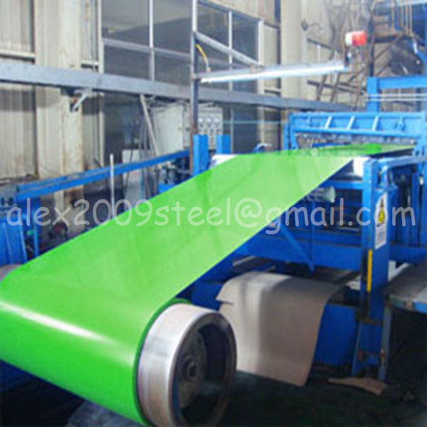 Green color ppgi ppgl steel coil and metal roofing sheet