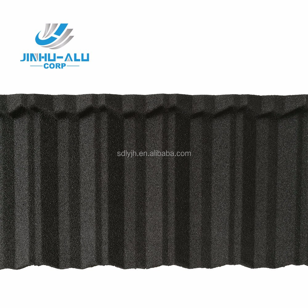 JINHU color stone coated metal roofing tile