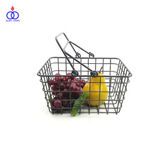 Factory Supply Household Decorative Storage Square Metal Wire Basket
