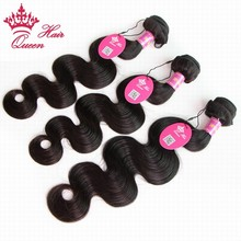 queen hair company products brazilian body wave bundles,6A Top brazilian virgin hair body wave tangle free human hair w