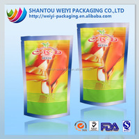 high temperature resistant plastic foil stand seed bags with zipper